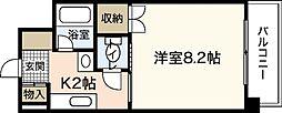 ラードクルーセ[5階]の間取り