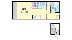 兵庫県三木市大塚2丁目の賃貸アパートの間取り