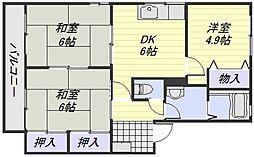 ディアス東原 A棟[1階]の間取り