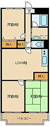 大阪府豊中市利倉西1丁目の賃貸マンションの間取り