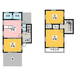 [テラスハウス] 愛知県名古屋市名東区高柳町 の賃貸【/】の間取り