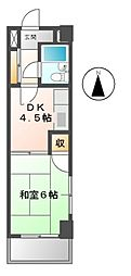 ラスゥール[5階]の間取り