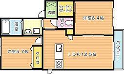サンベレオ C棟[2階]の間取り