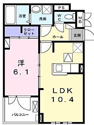 Luminous(ルミナス)II 1階1LDKの間取り