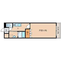 奈良県奈良市三条大路4丁目の賃貸マンションの間取り