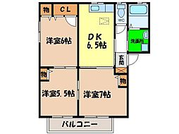 シャーメゾンAKINOKAMI[B201号室]の間取り