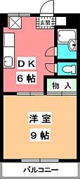 マンションふじ[406号室]の間取り