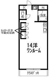 アトラクトEM[406号室]の間取り
