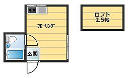 東京都板橋区熊野町の賃貸アパートの間取り