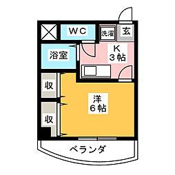 パティオミヤカワ[4階]の間取り