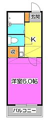 東京都清瀬市松山3丁目の賃貸アパートの間取り