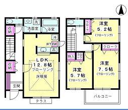[テラスハウス] 神奈川県藤沢市湘南台7丁目 の賃貸【/】の間取り