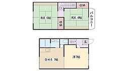 [テラスハウス] 神奈川県相模原市南区鵜野森2丁目 の賃貸【/】の間取り