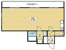 ロイヤルエステート[6階]の間取り