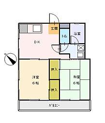 千葉県市川市新井3丁目の賃貸アパートの間取り