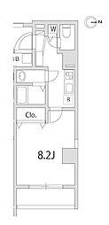 JR京浜東北・根岸線 さいたま新都心駅 徒歩8分の賃貸マンション 3階1Kの間取り
