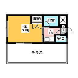 HKビル穂波[1階]の間取り