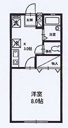 神奈川県伊勢原市田中の賃貸アパートの間取り