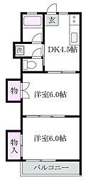 東京都杉並区宮前5丁目の賃貸アパートの間取り