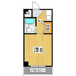京都府京都市山科区厨子奥矢倉町の賃貸マンションの間取り