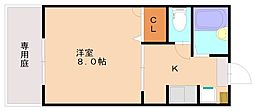 メルヴェーユ弥永[2階]の間取り