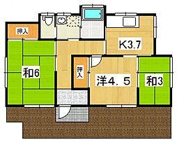 [一戸建] 神奈川県足柄上郡大井町金子 の賃貸【/】の間取り