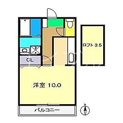 アメニティーハイム[2階]の間取り