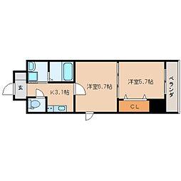 静岡県静岡市葵区金座町の賃貸マンションの間取り