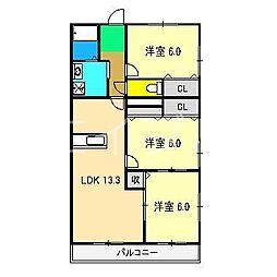 ルーナ マンション[3階]の間取り