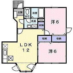 セピアコ-ト[1階]の間取り