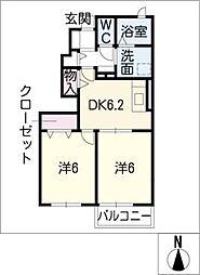 はなみずきA棟[1階]の間取り