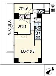 Casa VERDE[6階]の間取り