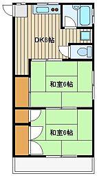 野寺サン・ハイム[2階]の間取り