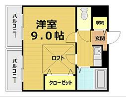 イースター西栄[3階]の間取り