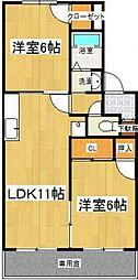 Aiwa II[2階]の間取り