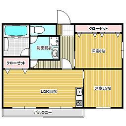 福岡県福岡市南区長丘2丁目の賃貸マンションの間取り
