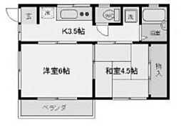 MYハイツ[1階]の間取り