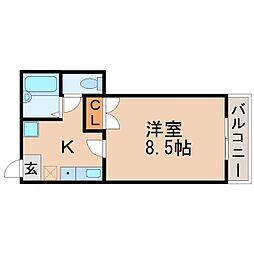 兵庫県西宮市門戸東町の賃貸アパートの間取り