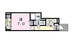東京都江戸川区大杉5丁目の賃貸アパートの間取り