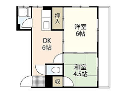 松尾ビル[4階]の間取り
