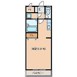 プレアール東合川[1階]の間取り
