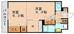 アベンシスRC[6階]の間取り