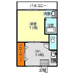 ヴィラナリー富田林2号棟[1階]の間取り