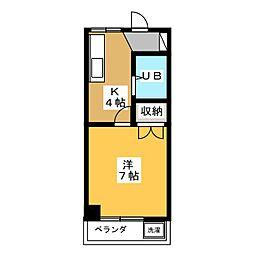 コーポかりん[1階]の間取り