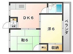 Regalo寝屋川[2階]の間取り