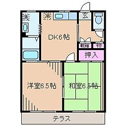 神奈川県横浜市港北区日吉本町4丁目の賃貸アパートの間取り