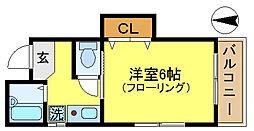 永和第3ビル[302号室]の間取り