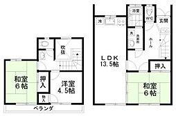 [テラスハウス] 茨城県つくば市梅園2丁目 の賃貸【/】の間取り
