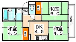 メロディーハウス樫山[105号室]の間取り