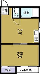 港晴しょみんハイツ[3階]の間取り
